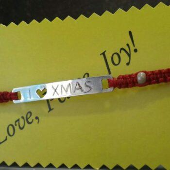 Χριστουγεννιάτικο Βραχιόλι I Love XMas