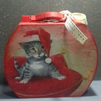 Χριστουγεννιάτικο Βαλιτσάκι Γάτα
