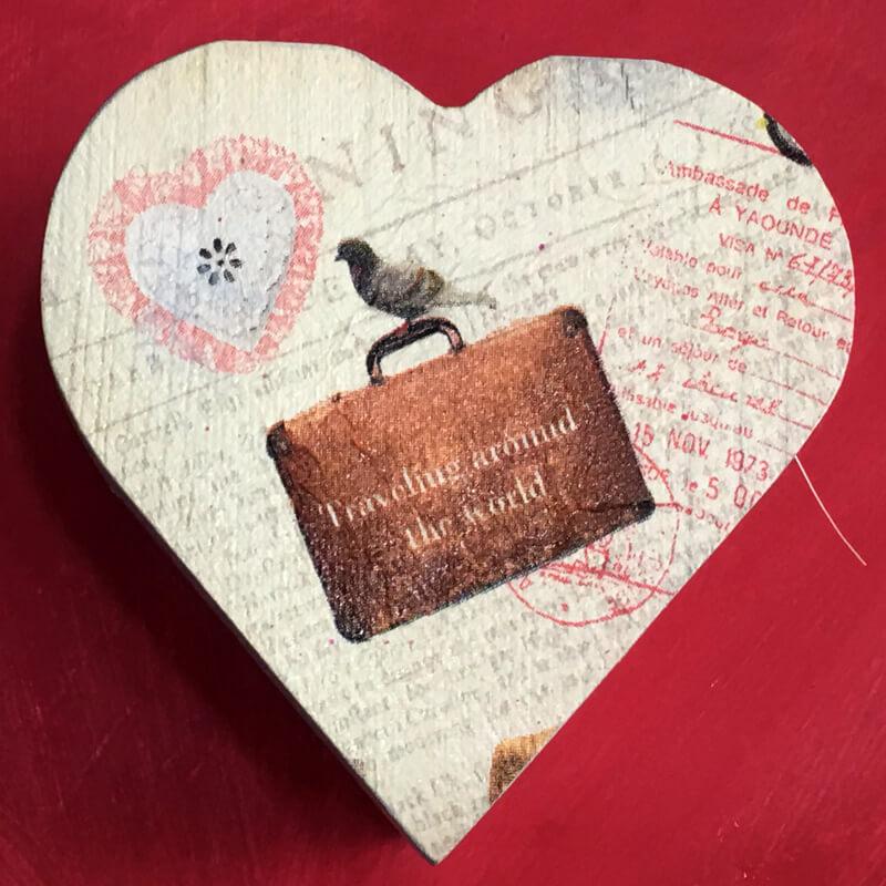 Ξύλινο Κουτάκι Αντρική Καρδιά