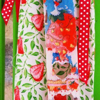 Λαμπάδα Καρδιά-Φράουλα