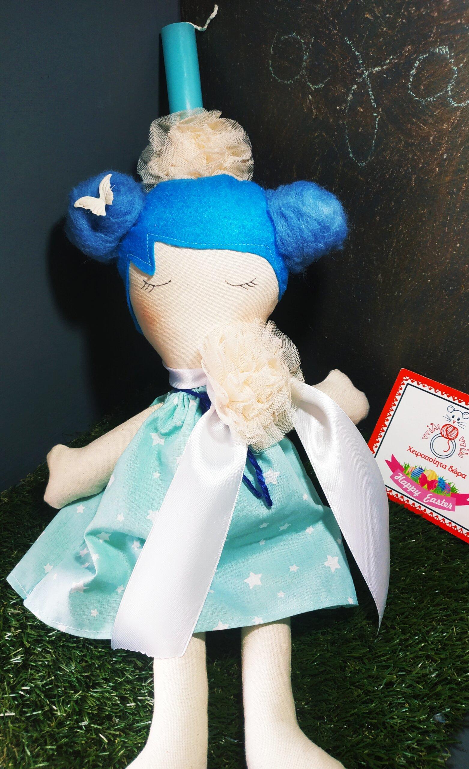 Λαμπάδα Μπλε Κούκλα